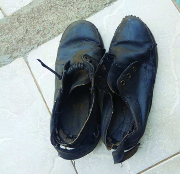 """f77e3831b2b1 4 miles a day on rough stony ground there is little remaining of our  children s shoes after a year at school. """""""