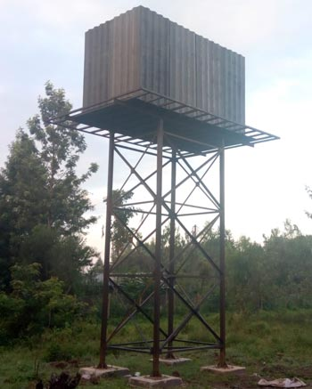 development projects africa builds new water tower